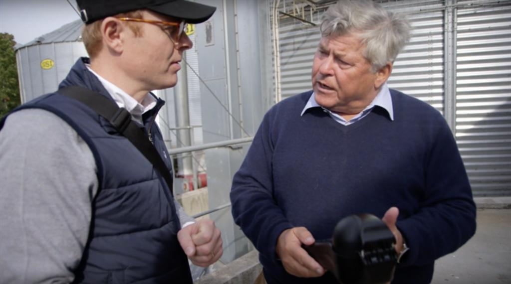 Власник ферми Густав Хейджман відгук аналізатор зерна ГрейнСенс